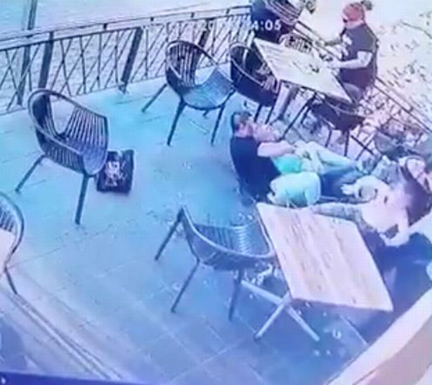 A diner quickly subdued the suspect and held him on the floor
