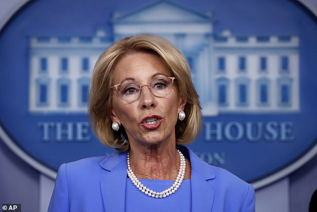 Education Secretary Betsy DeVos is vowing to withhold federal funding from several Connecticut schools unless they withdraw from an athletic conference that allows transgender students to compete on teams 'that correspond with their gender identity'
