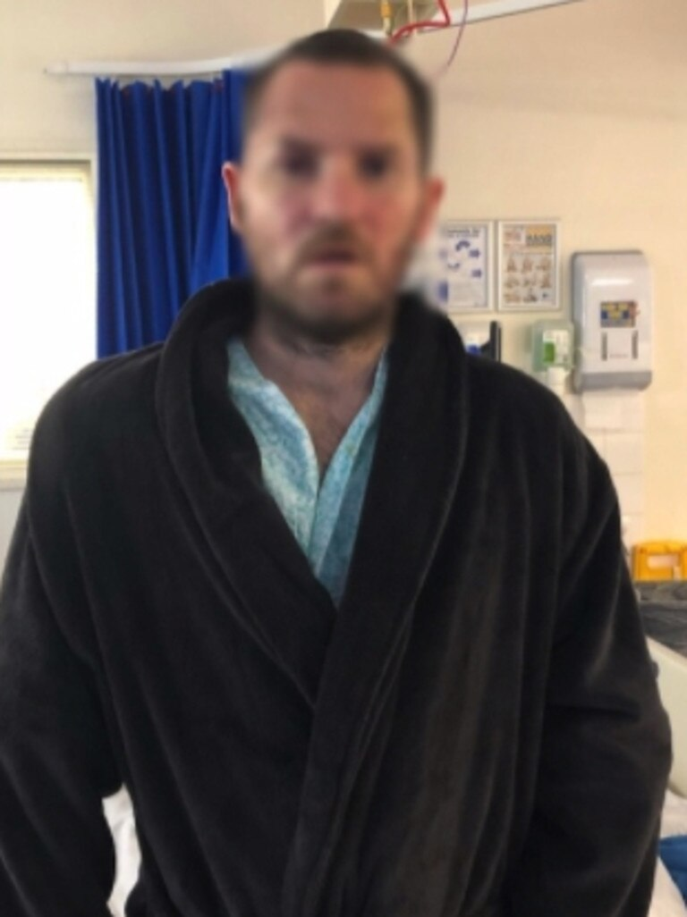 Brett Halcro, 36, faces a difficult recovery after a devastating knife attack in Pyrmont on July 31. Nine boys have been charged over the attack.