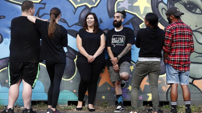 Natalie Chiappazzo and Nickolas Koutsoudakis at BYSA, where young people are driving the programs, and being supported to mentor other young people as they move through the centre's model. Picture: Sam Ruttyn