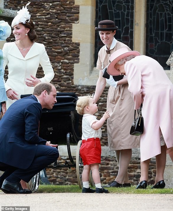 Norland College, founded in 1892 by Emily Ward, is a leading provider of childcare training. Its alumni include Maria Teresa Turrion Borrallo, nanny to the Duke and Duchess of Cambridge's children. She is pictured here with Prince George, the Queen , Kate Middleton and Prince William