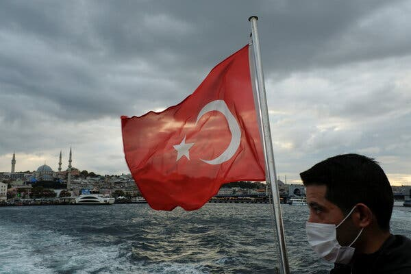 On a ferry over the Bosphorus in Istanbul this week.