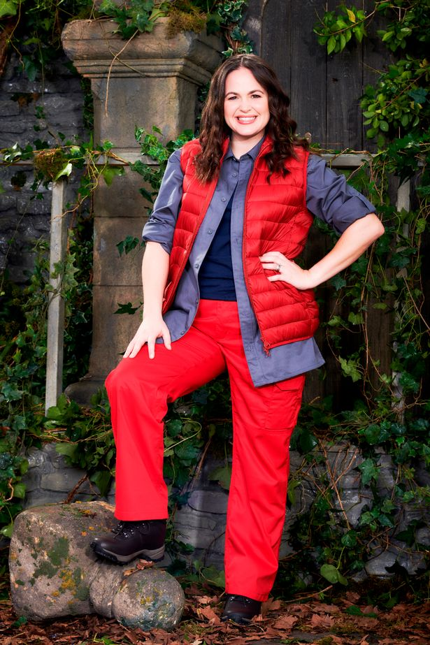 Giovanna Fletcher poses for a promotional shot for her stint on I'm A Celebrity… Get Me Out Of Here!