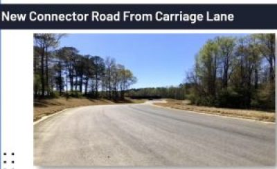 <b>Connector road linking the existing Carriage Lane to the new Booth campus. Photo/Fayette County School System.</b>