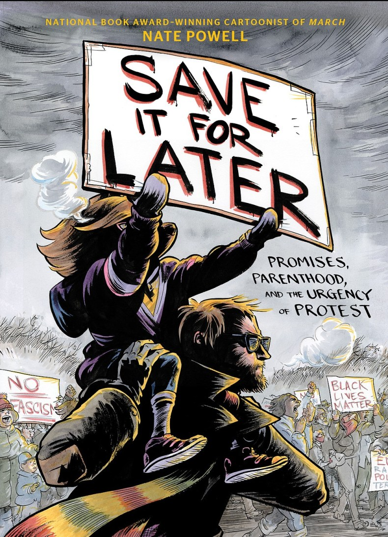 """Originally from North Little Rock, artist and essayist Nate Powell has won awards for his graphic novels. His most recent, """"Save It for Later: Promises, Parenthood and the Urgency of Protest,"""" was released April 6.  (Courtesy photos)"""