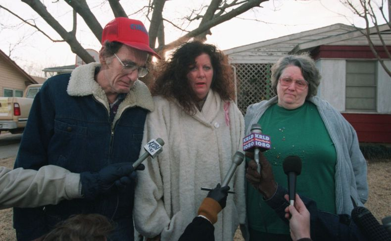 Jimmie Whitson,  Amber's grandfather, Phyllis Stephens, a family friend, and Glenda  Whitson, Amber's grandmother, spoke to the news media in front  her the Whitson's home early Thursday morning, Jan. 18, 1996.