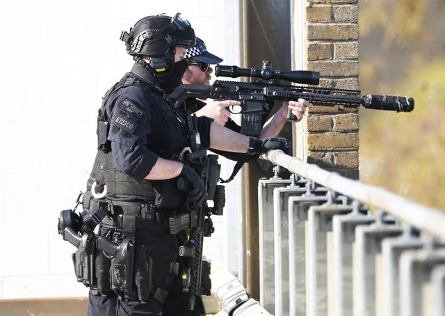 Armed officers in Crawley