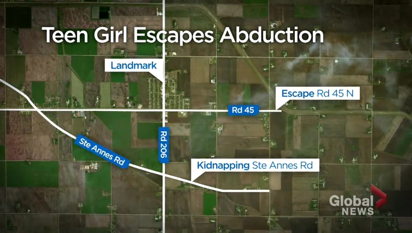 Click to play video: 'RCMP say teen girl kidnapped near Landmark, Man. manages to escape her abductor'