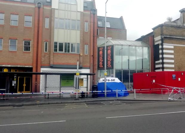 News Shopper: Police cordoned off a block of shops on Woolwich New Road (PA)