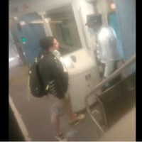 #childpredator | Racist tirade against NJT conductor over mask rules