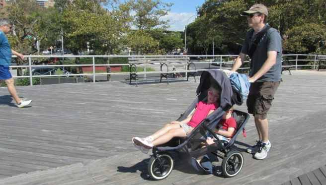 too big for stroller