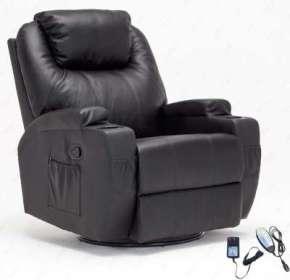 RECLINER GENIUS Leather Massage Recliner Chair