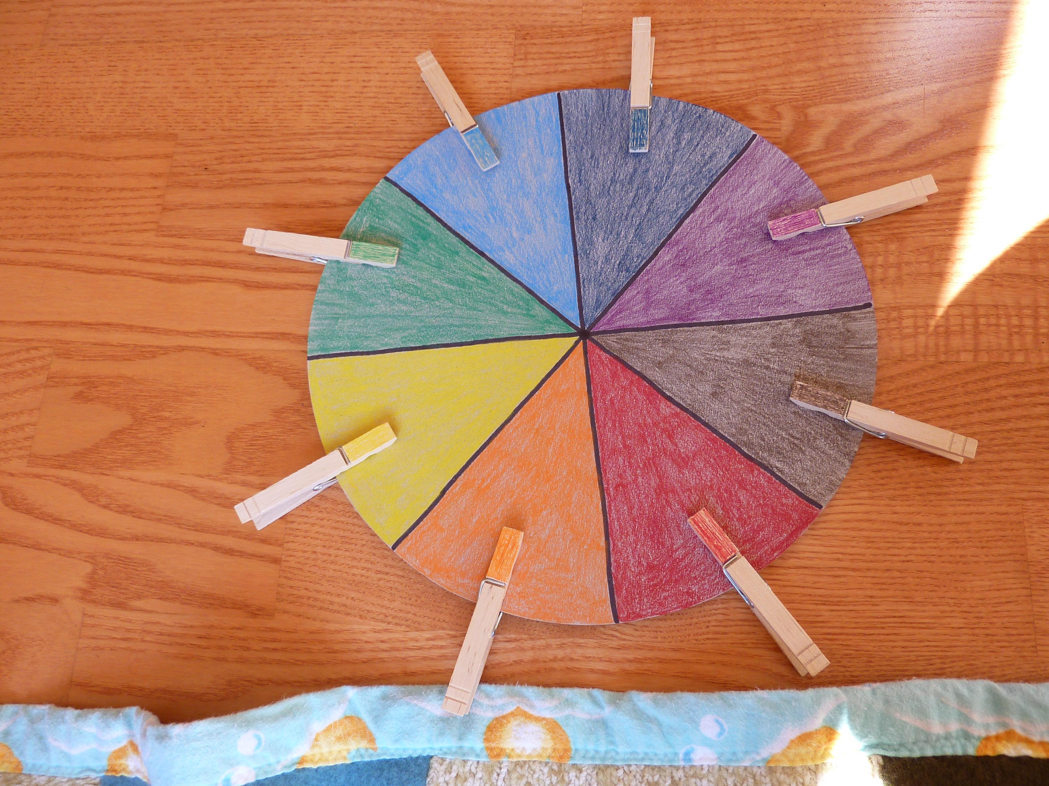 Preschool Activity Simple Color Wheel