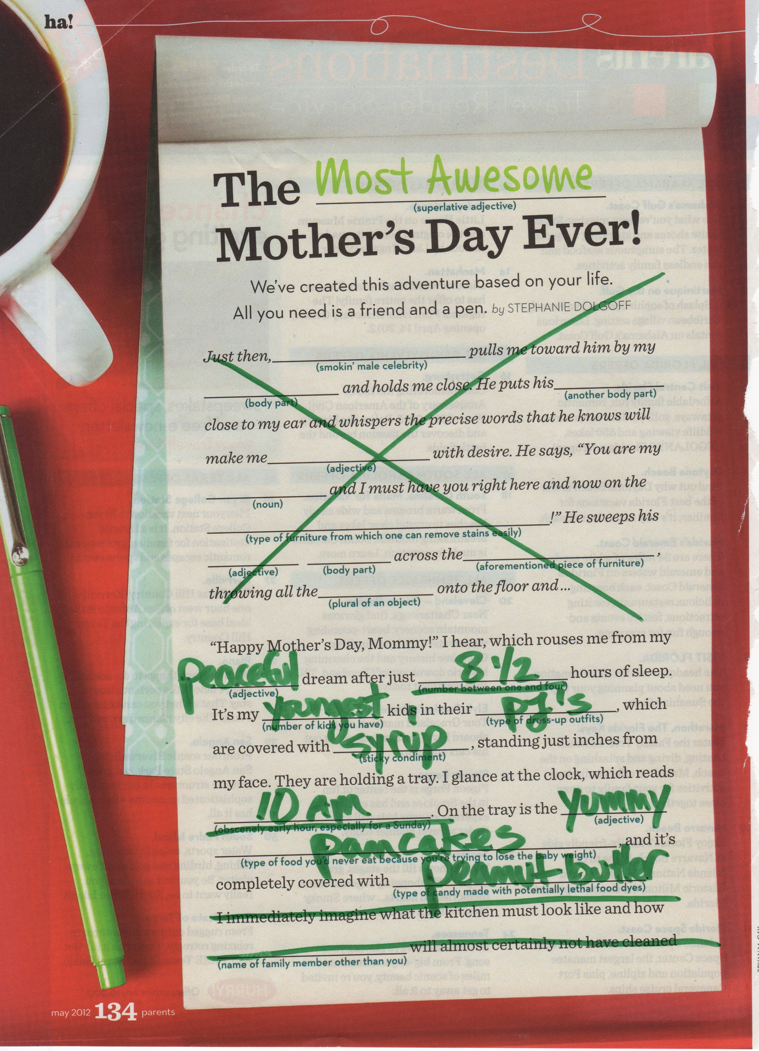 Mommy Mad Libs