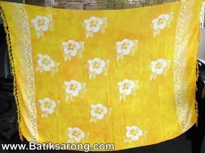 Monocolor sarongs from Indonesia