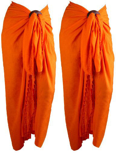 Plain Solid Color Pareo Sarongs Indonesia