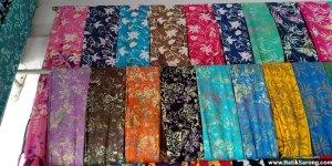 Batik sarongs bali indonesia