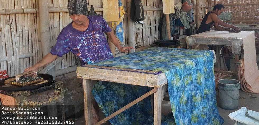 Batik Factory in Java Indonesia