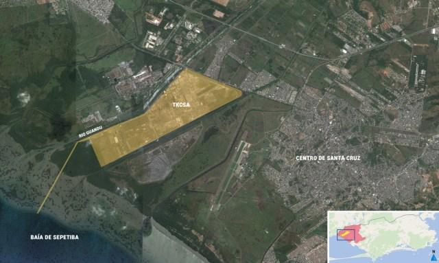 Luftaufnahme des TKCSA-Geländes