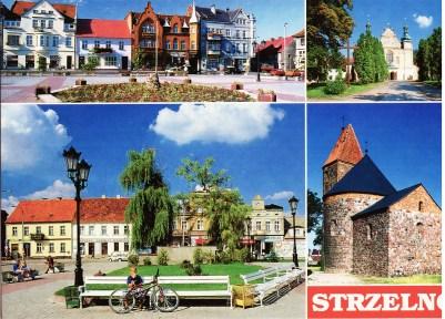Po lewej u góry: Kamienice przy Rynku Po prawej u góry: Bazylika Św. Trójcy U dołu po lewej: Rynek U dołu po prawej: Rotunda Św. Prokopa