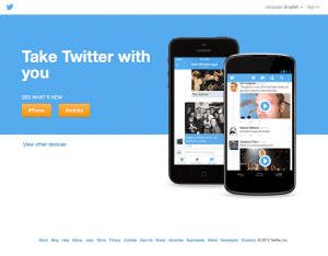 Twitter's logged out page