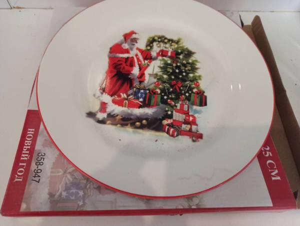 """Сервировочная тарелка """"Новый год"""""""