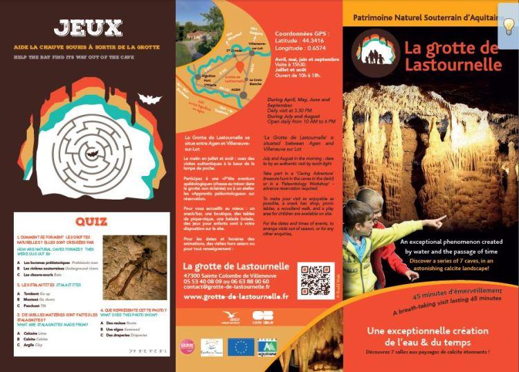 Flyer Grotte de Lastournelle recto