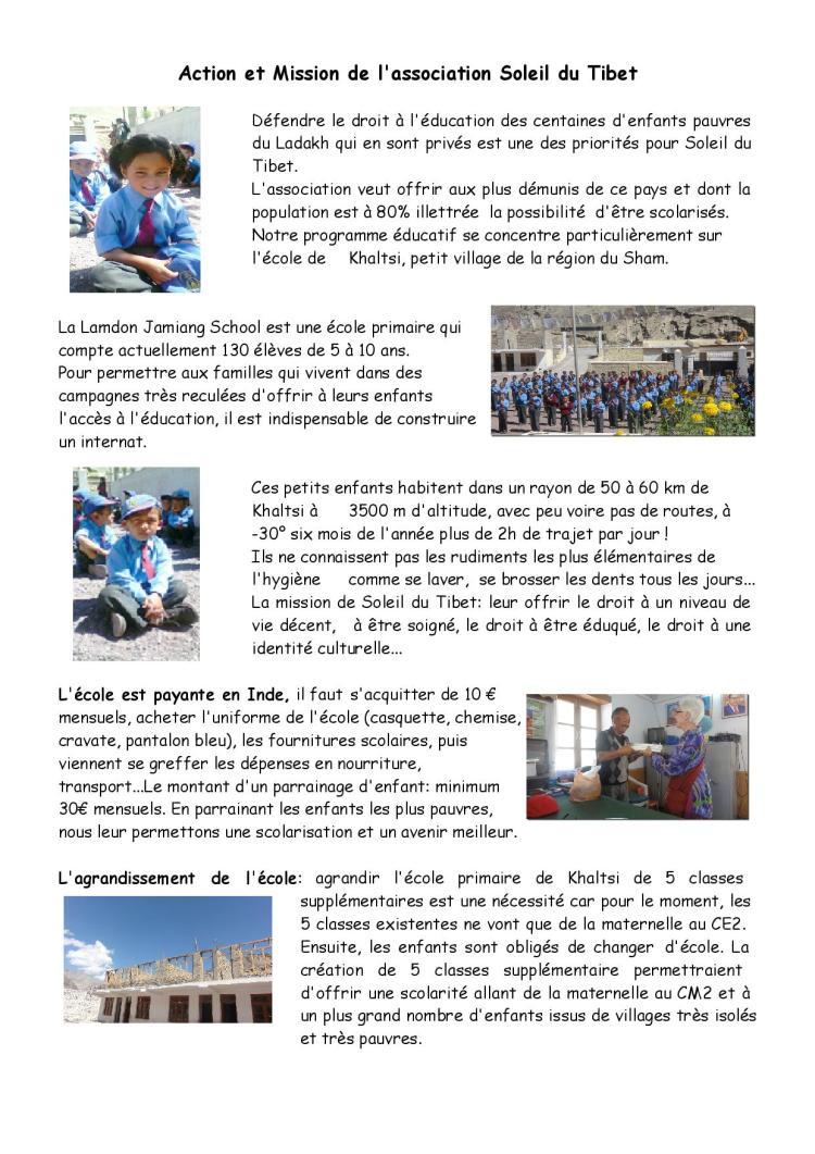 Action et mission de SDT