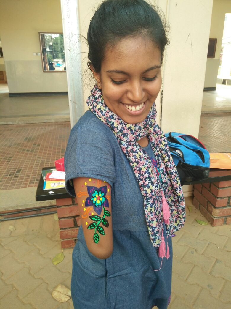 The body art that Nithya painted <#