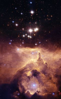 Star cluster Pismis 24 with nebula