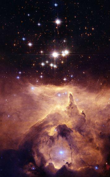 Star cluster Pismis 24 with nebula
