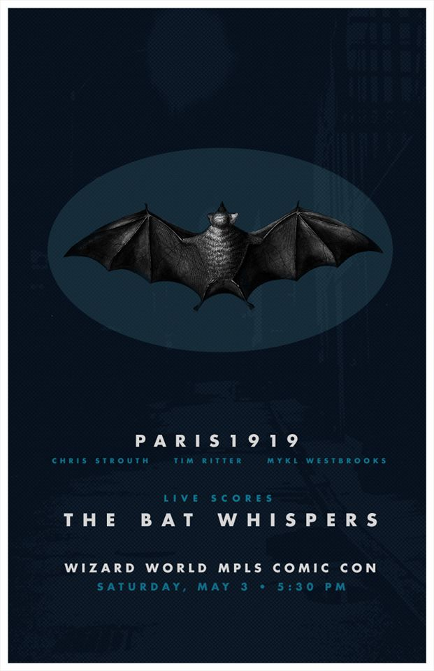 Poster for the  Paris1919 soundtrack to the Bat Whispers