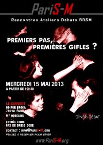 """Munch Dîner-Débat n°71 – """"l'amour BDSM, premiers pas, premières gifles"""" - Mercredi 15 mai 2013"""
