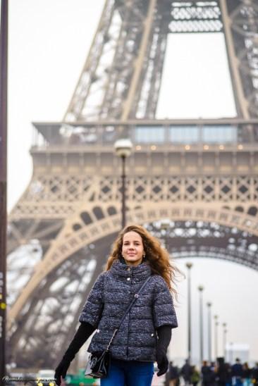 Фотограф в Париже. Фотосессия у Эйфелевой башни