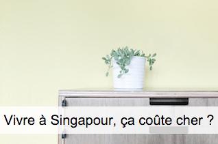 Coût de la vie à Singapour