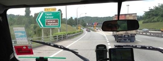Direction Cameron Highlands en Malaisie