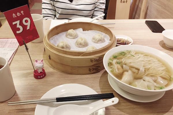 Dim sum chez Din Tai Fung Singapour