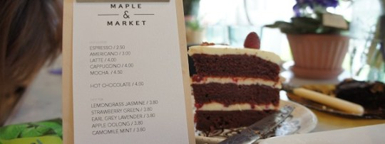 Drinks menu at Maple & Market