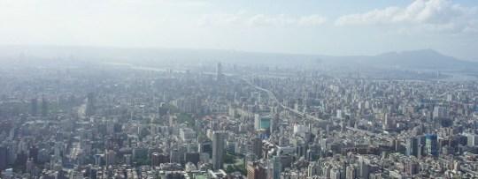 Vue de Taipei depuis Taipei 101