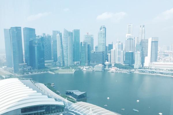 Singapore CBD area from Marina Bay Sands