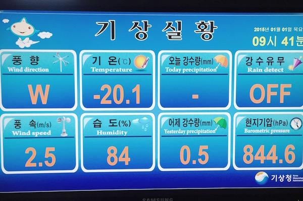Il fait froid en Corée