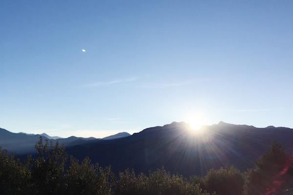 Lever de soleil à Alishan