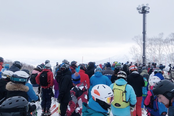 Queue a Niseko