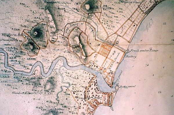 Carte de River Valley vers 1600