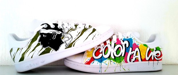 07d19a501b40a9 Mick Art customise vos baskets - Pari(s) sur la Corse