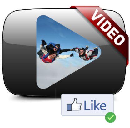 Icône vidéo parachute paris