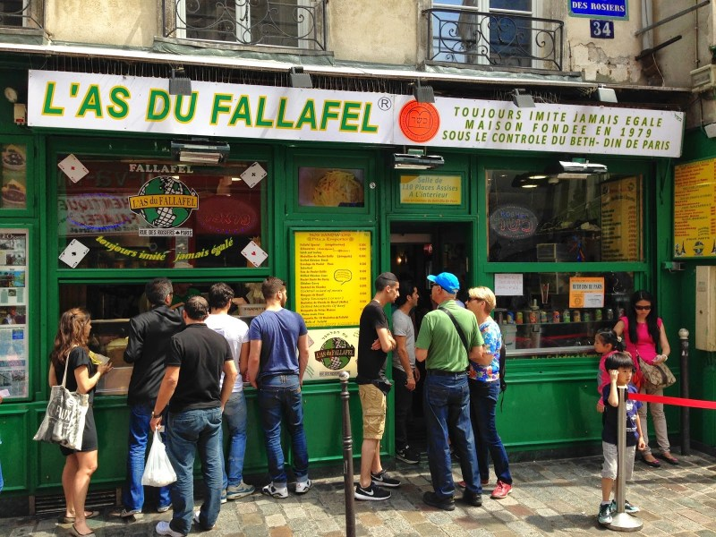 falafel em paris - as outras gastronomias de paris