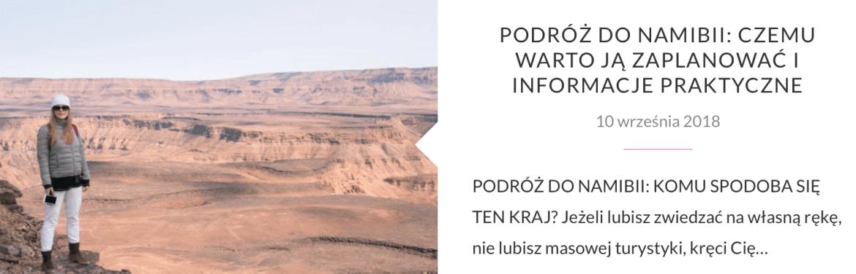 PODRÓŻ DO NAMIBII I PARK ETOSHA