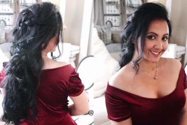Christmas Hairstyle & Dress Inspiration | Hair Of The Day & OOTD