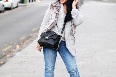 How To Wear A Faux Fur Vest? Paris Chic Style Everyday Fashion